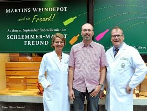 Künftig unter einem Dach vereint: Martin Sauer (Mitte) mit Imke und Marten Freund.